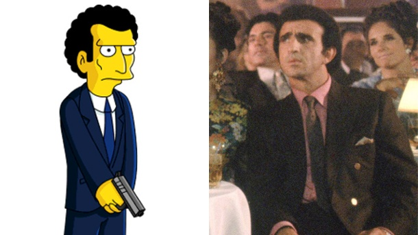 """Good Fellas""-Star Frank Sivero verklagt ""Die Simpsons"". Frank Sivero in ""Good Fellas"" und ""Louie"", sein Alter Ego aus ""Die Simpsons"" (Quelle: simpsons.wikia.com / imago / EntertainmentPictures)"