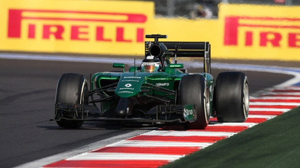 Formel 1: Um Formel-1-Team Caterham entwickelt sich ein Schmierentheater. Caterham-Pilot Kamui Kubayashi beim Grand-Prix im russischen Sotschi. (Quelle: imago/Crash Media Group)