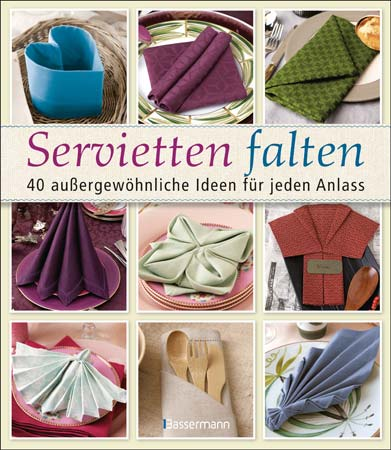 Servietten falten: Buch-Cover (Quelle: Bassermann)
