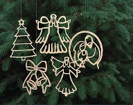 Weihnachtsdeko aus Sperrholzplatten (Quelle: dpa/Scroll Saw Woodworking & Crafts Magazine)