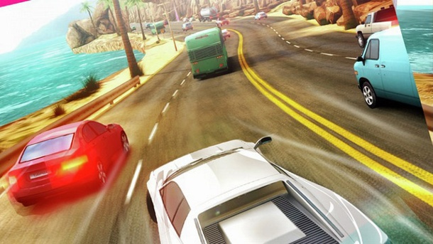 """Asphalt Overdrive"" für Android und iOS: Need for Speed Light. Asphalt Overdrive Endless-Racer von Gameloft für iOS und Android (Quelle: Gameloft)"