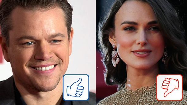 Matt Damon und Keira Knightley: Top & Flop des Tages. Matt Damon, Keira Knightley (Quelle: Reuters)