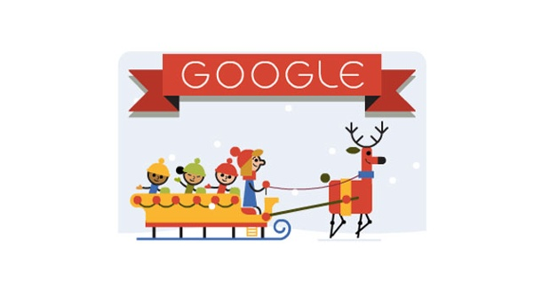 frohes fest von google doodle zu weihnachten wechselt. Black Bedroom Furniture Sets. Home Design Ideas