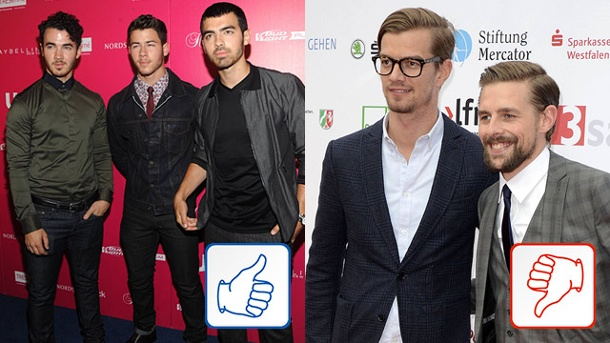 Jonas Brothers & Joko und Klaas: Top & Flop des Tages. Die Jonas Brothers und Joko und Klaas (Quelle: imago/Future Image/Picture Perfect)