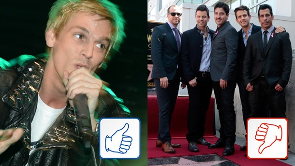 Aaron Carter & New Kids on The Block: Top & Flop des Tages. Aaron Carter und New Kids on The Block (Quelle: dpa, Reuters)
