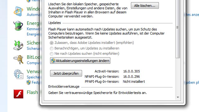 Flashplayer Version Prüfen