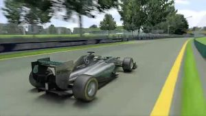 Melbourne: Mit Vollgas durch den Albert Park. (Screenshot: news2use)