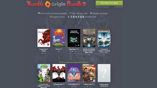 Neues Humble Origin Bundle 2 startet durch. Humble Origin Bundle 2 (Quelle: Humble Inc.)