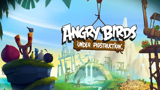 Angry Birds: Under Pigstruction - Heim ins Nest. Angry Birds: Under Pigstruction Geschicklichkeitsspiel von Rovio Entertainment für iOS (Quelle: Rovio Entertainment )