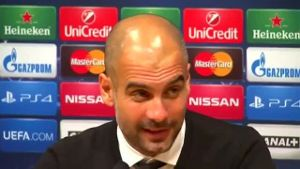 Champions League: Guardiola will keine Kritik an seinem Team üben. (Screenshot: Reuters)