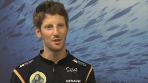 F1-Pilot Romain Grosjean plaudert aus dem Nähkästchen. (Screenshot: news2use)