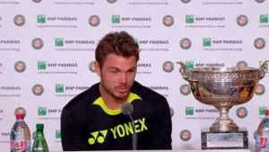 Stan Wawrinka analysiert das French-Open-Finale gegen Novak Djokovic. (Screenshot: Omnisport)