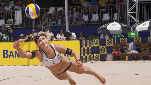 Beach-Volleyball: Beach-Duo Ludwig/Walkenhorst verpasst Podest. Laura Ludwig in Aktion.