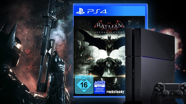Gewinnspiel: Batman: Arkham Knight samt PlayStation 4 abstauben. Batman: Arkham Knight samt PlayStation 4 Konsole zu gewinnen (Quelle: t-online.de)