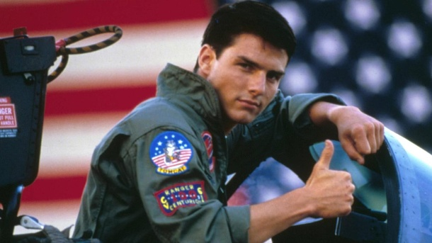 """Top Gun 2"" kommt ins Kino - Tom Cruise ist wohl dabei. Tom Cruise in ""Top Gun"". (Quelle: imago images/AD)"