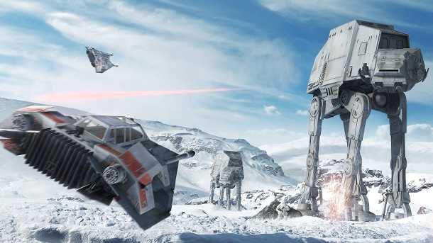 "In ""Star Wars: Battlefront"" wird mächtig geballert  . Multiplayer-Shooter (Quelle: Electronic Arts)"