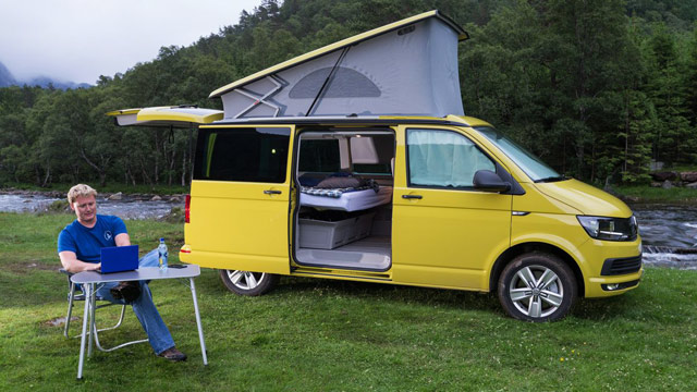 vw t6 california erste ausfahrt im neuen reisemobil. Black Bedroom Furniture Sets. Home Design Ideas