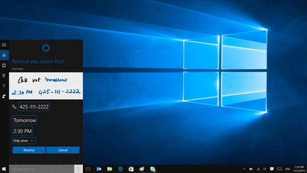 Microsoft Windows 10: So rüsten Sie fehlende Funktionen nach. Neuerungen wie Cortana in Windows 10 brauchen Platz. Dafür hat Microsoft alte Software rausgeworfen. (Quelle: Hersteller)
