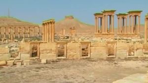 IS zerstört weiteren Tempel in Palmyra. (Screenshot: Reuters)