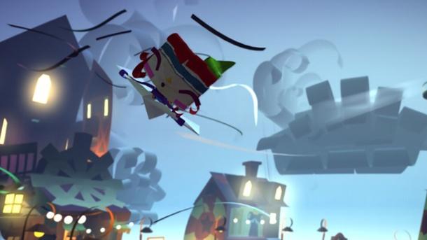 Fantastische Welt aus Faltpapier. Tearaway Unfolded Action-Adventure für PS4 von Media Molecule (Quelle: Sony)