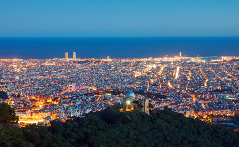 So sieht Barcelona aus der Luft aus. (Quelle: Thinkstock by Getty-Images)