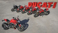 Die aktuelle Monster-Familie besteht nun aus sechs Mitgliedern: das neue Topmodell Monster 1200 R (vorne) sowie (hinten, von links) Monster 821 Dark, Monster 821, Monster 821 Stripe, Monster 1200 und Monster 1200 S. (Quelle: Milagro)