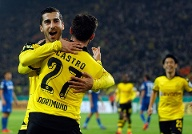 Dortmund's Castro celebrates after he scored against SC Paderborn during their German Cup (DFB Pokal) second round soccer match in Dortmund (Quelle: Reuters)