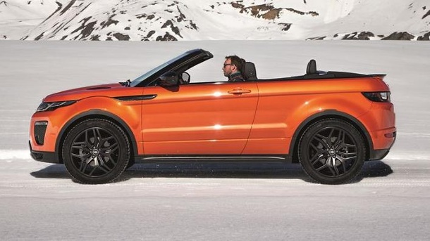 range rover evoque cabrio erste ungetarnte fotos. Black Bedroom Furniture Sets. Home Design Ideas
