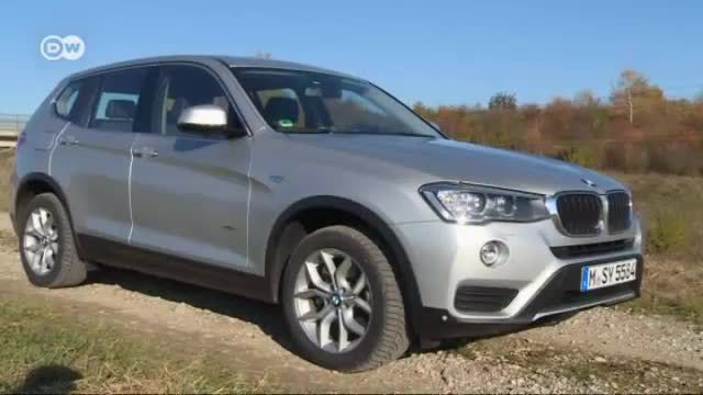 In der Praxis: Der BMW X3. (Screenshot: Deutsche Welle)