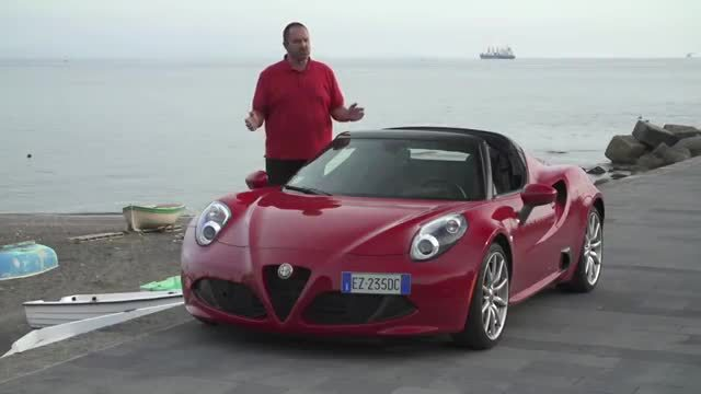 rennsportfeeling im alfa romeo 4c spider video. Black Bedroom Furniture Sets. Home Design Ideas