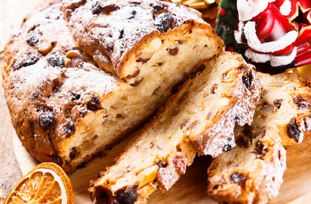 Weihnachts-Quarkstollen (Quelle: Thinkstock by Getty-Images)