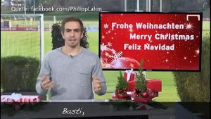 Weihnachtsgruß von Philipp Lahm. (Screenshot: Bit Projects)