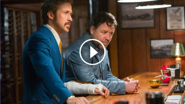 "Ryan Gosling und Russell Crowe in ""The Nice Guys"". (Quelle: Concorde)"