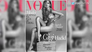 Gigi Hadid splitternackt auf Vogue Cover. (Screenshot: Zoomin)