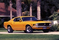 Der Ford Mustang Boss 429 von 1970 hatte nominell rund 380 PS. (Quelle: Ford Motor Company)