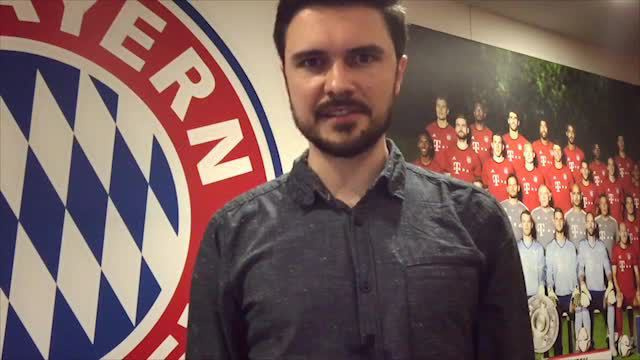 Maximilian Miguletz in der Allianz Arena. (Screenshot: t-online.de)