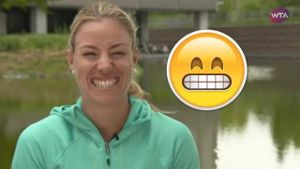 Kerber und Co. im Emoji-Mode (Screenshot: Omnisport)