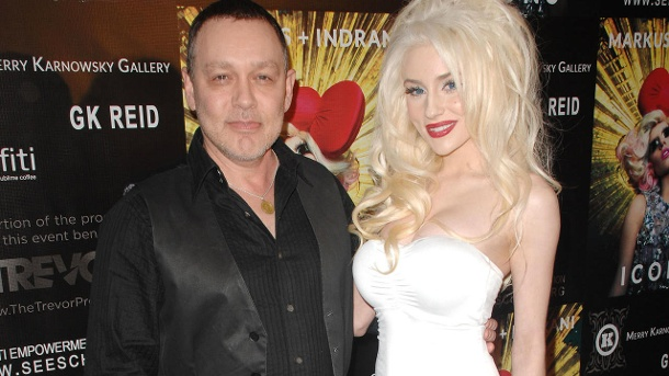 Doug Hutchison und Courtney Stodden im Jahr 2013. (Quelle: dpa/PatrickMcMullan.com via AP Images)