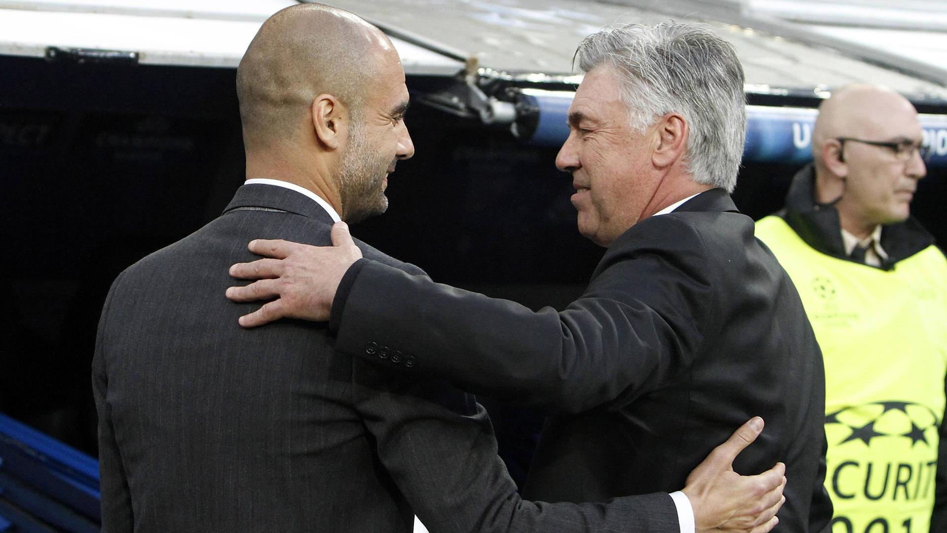 fc bayern m nchen carlo ancelotti feiert heimpremiere gegen pep guardiola. Black Bedroom Furniture Sets. Home Design Ideas