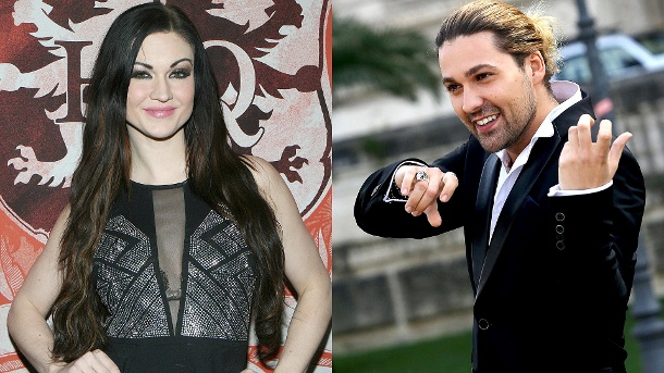 David Garrett wehrt sich gegen Vorwürfe von Ex-Verlobter. Ashley Youdan alias Kendall Karson und Star-Geiger David Garrett. (Quelle: dpa/WENN)
