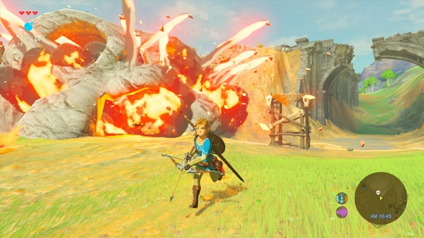 "Legend of Zelda: Nintendo bringt ""Breath of the Wild""-Season-Pass. Spielemesse E3: Nintendo hat das neue Zelda-Abenteuer ""Breath of the Wild"" für Wii U und NX vorgestellt. (Quelle: AP/dpa/Nintendo)"