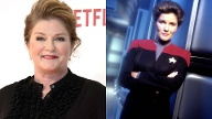 "Kate Mulgrew war der Captain der ""Voyager"", Kathryn Janeway. Nach dem Aus der Serie ging sie zunächst ans Theater. Ab 2006 war sie dann auch wieder in verschiedenen TV-Produktionen (""The Black Donnellys"", ""Mercy"", ""Warehouse 13"") zu sehen. Seit 2013 ist sie zudem in der Serie ""Orange Is The New Black"" als Galina ""Red"" Reznikov zu sehen. 2015 brachte sie ihre Memoiren heraus: ""Born with Teeth: A Memoir"". (Quelle: imago images/United Archives/Future Image)"