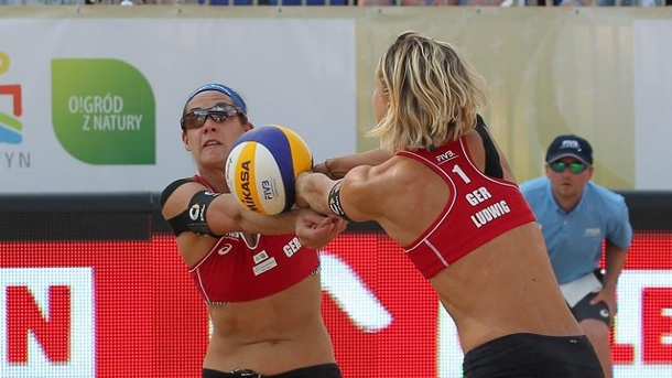 Beach-Volleyball: Beach-Duo Ludwig/Walkenhorst Dritter in Gstaad. Laura Ludwig (r.