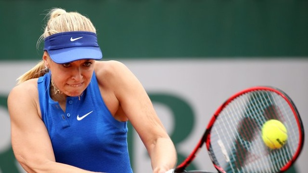 Tennis: Lisicki steht in Washington im Achtelfinale. Sabine Lisicki in Aktion.