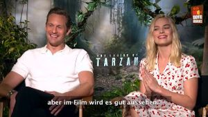 "Die ""Tarzan""-Stars im Interview. (Screenshot: t-online.de)"