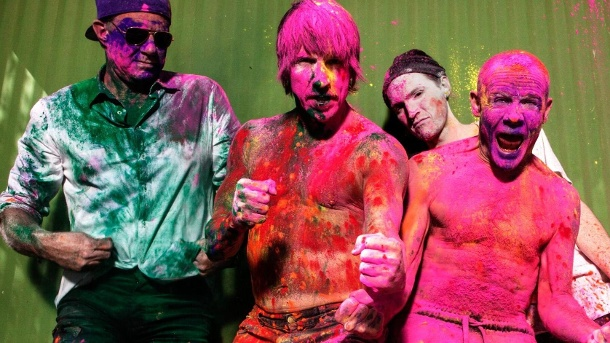 Superstars Red Hot Chili Peppers in 360-Grad . Red Hot Chili Peppers (Quelle: Kruger Media )