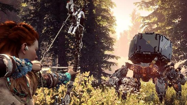 """Horizon Zero Dawn"" brintg die PS4 ans Limit. Das Endzeit-Actiongame Horizon Zero Dawn zeichnet ein fatales Bild unserer zukünftigen Zivilisation. (Quelle: Sony)"