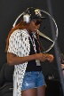Venus Williams in der Box von Lewis Hamilton (Quelle: imago images/Eibner)