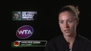 Kerber 'happy' nach Auftaktsieg in Singapur. (Screenshot: Omnisport)