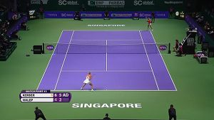 Highlights: Kerber vs. Halep - WTA-Finale in Singapur. (Quelle: ran.de)